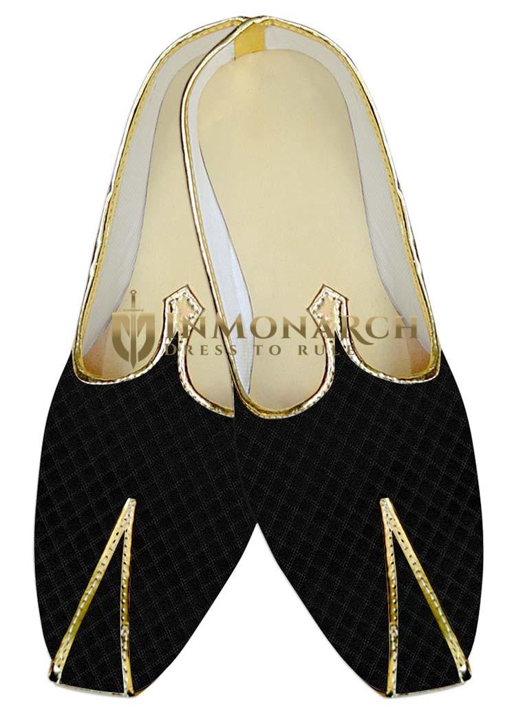 Juti ForMen Black Wedding Shoe Square Design Wedding Shoe