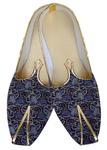 Juti ForMen Navy Blue Wedding Shoes Paisley Design Wedding Shoe