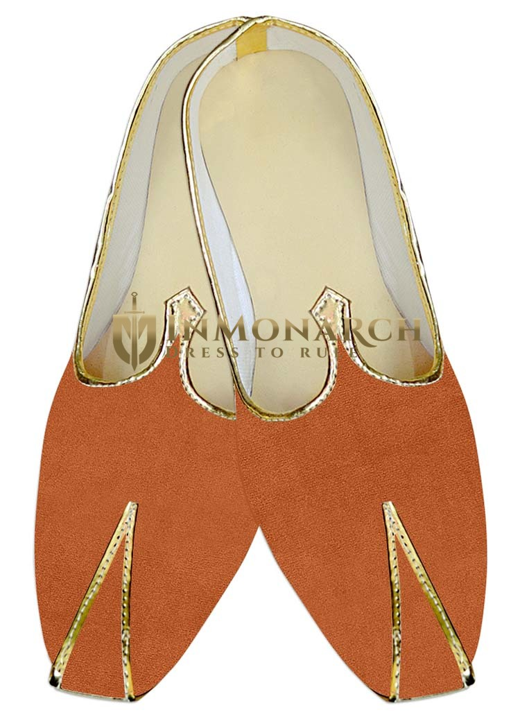 Juti ForMen Rust Wedding Mojari Partywear Wedding ShoeFor Groom