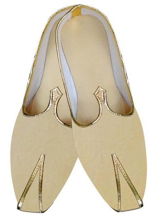 Indian WeddingShoes For Men Beige Groom Wedding Mojari