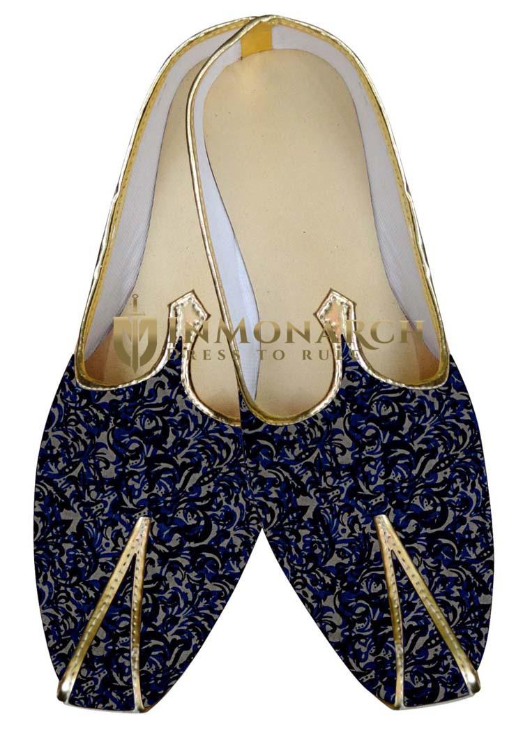 Indian WeddingShoes For Men Blue Wedding Shoes Multi Design