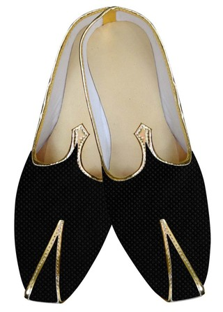 Mens Black Wedding Shoes Box Threaded