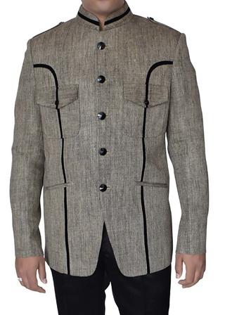 Mens Light Gray Blazer Traditional Look