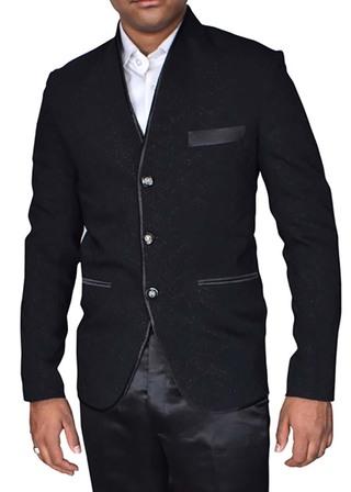 Mens Black Pinstripe Jacket Traditional Partywear