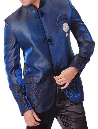 Mens 4 pc Royal Blue Tuxedo Suit Awesome Wedding