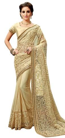 Golden Fancy Net Bollywood Saree