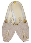 Traditional Shoes For Men Ivory Wedding Shoes Paisley Pattern Indian Mens Shoes