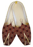 Mens Juti Burgundy Wedding Shoes Grill Design Sherwani Shoes