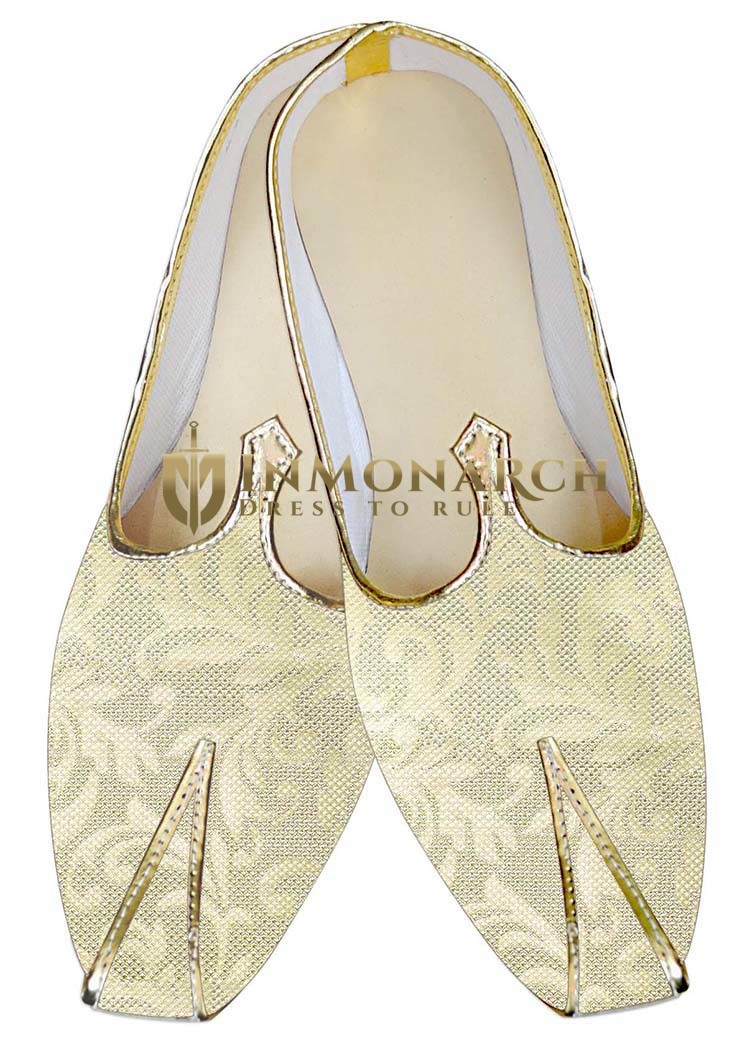 Mens Indian BridalShoes Ivory Shoes Handmade Indian WeddingShoes