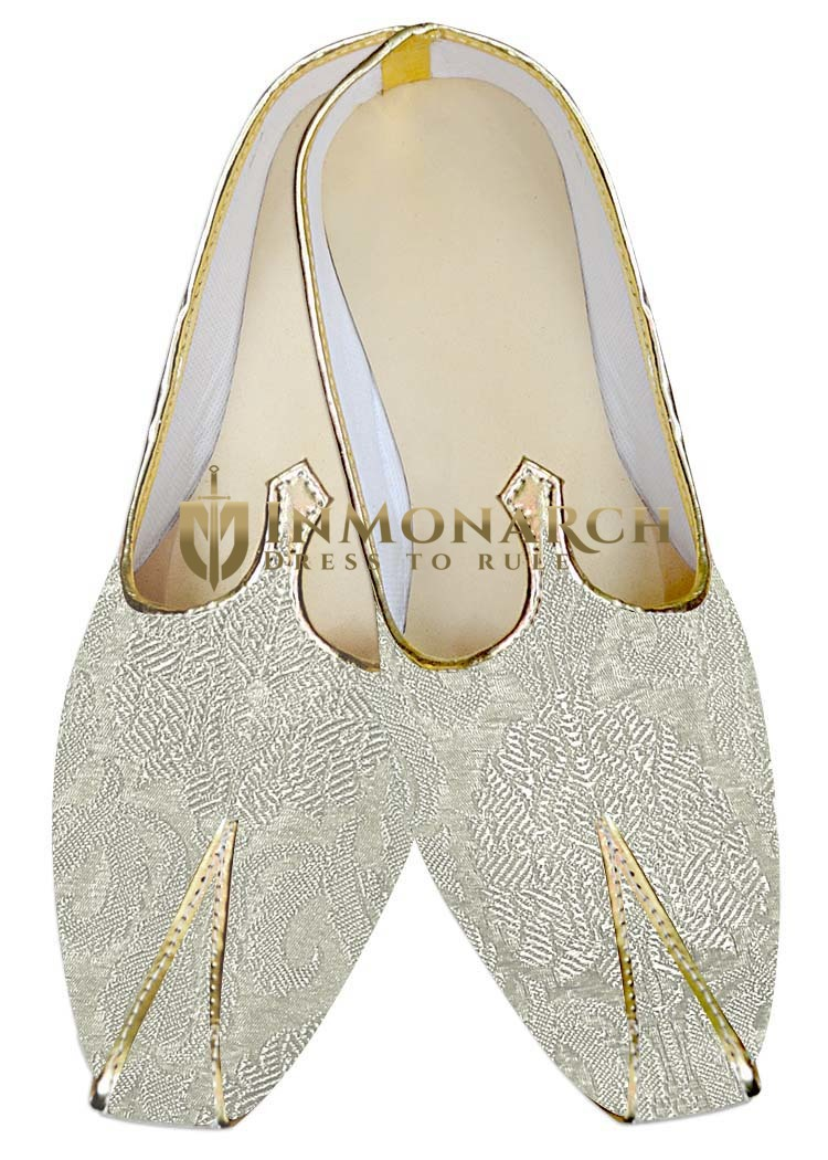 Traditional Shoes For Men Cream Wedding Footwear Luxury Indian Shoes
