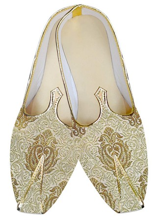 Indian Wedding Shoes For Men Golden Groom Wedding Shoes