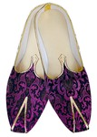 Mens Juti Purple Wedding Shoes Flower Pattern