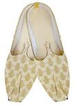 Mens Juti Light Golden Wedding Shoes Handcrafted Sherwani Shoes