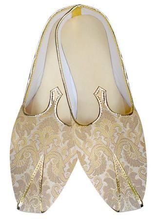 Mens Indian BridalShoes Beige Wedding Shoes Designer WeddingShoes