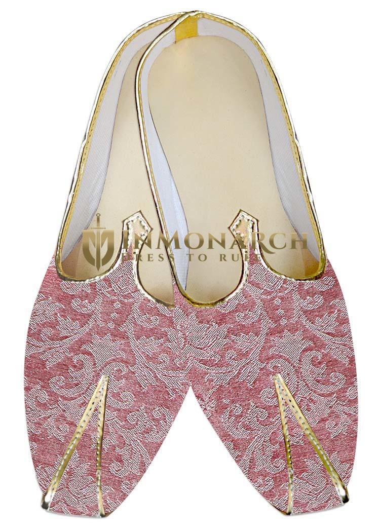 TraditionalShoes For Men Pink Wedding Shoes Craftsmanship