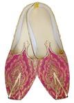 Mens Indian BridalShoes Magenta Wedding Shoes Bridegoom