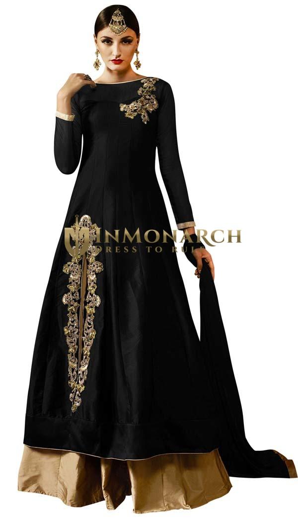 Black Silk Partywear Lehenga Choli