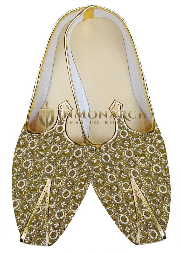 Indian WeddingShoes For Men Golden Wedding Shoes Machine Work