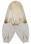 Indian MensShoes Cream Wedding Shoes Rajasthani Juti
