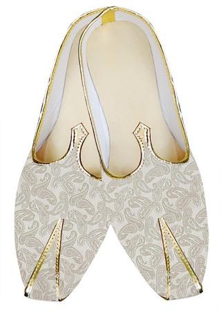 Juti ForMen Cream Wedding Shoes Paisley Pattern