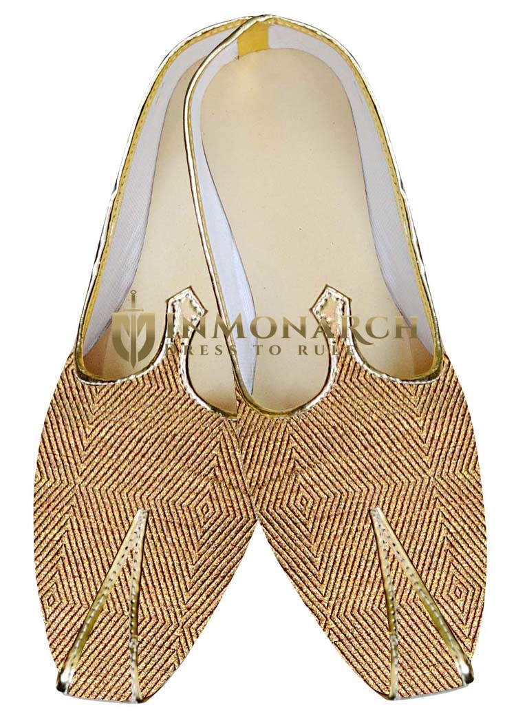 Indian Mens Shoes Golden Wedding Shoes Wales Design Juti