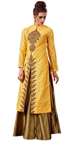 Yellow and Golden Traditional Lehenga