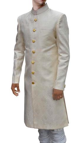 Mens Cream Sherwani Jodhpuri Style