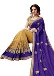 Yellow Cut Work Silk Wedding Saree