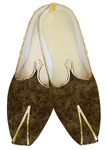 Traditional Shoes For Men Olive Drab Jute Velvet Wedding Shoes