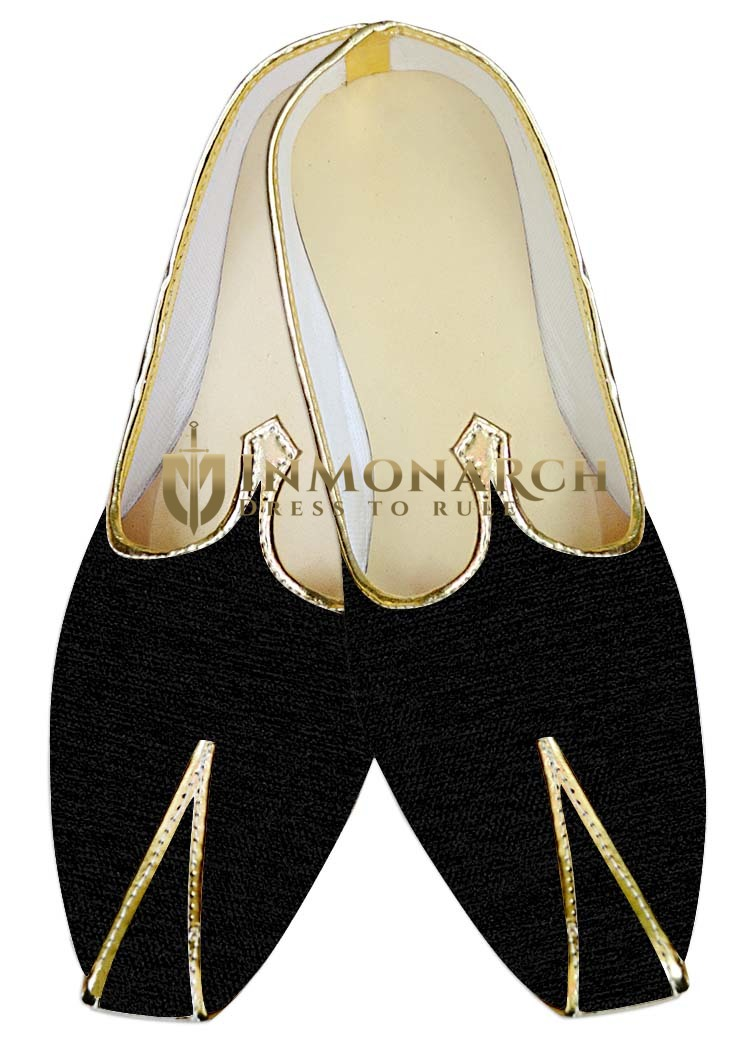 Traditional Shoes For Men Black Wedding Shoes Hand Made Indian Shoes