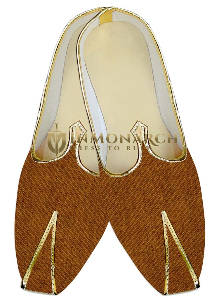 Mens Juti Rust Wedding Shoes Sherwani Shoes Bridegoom