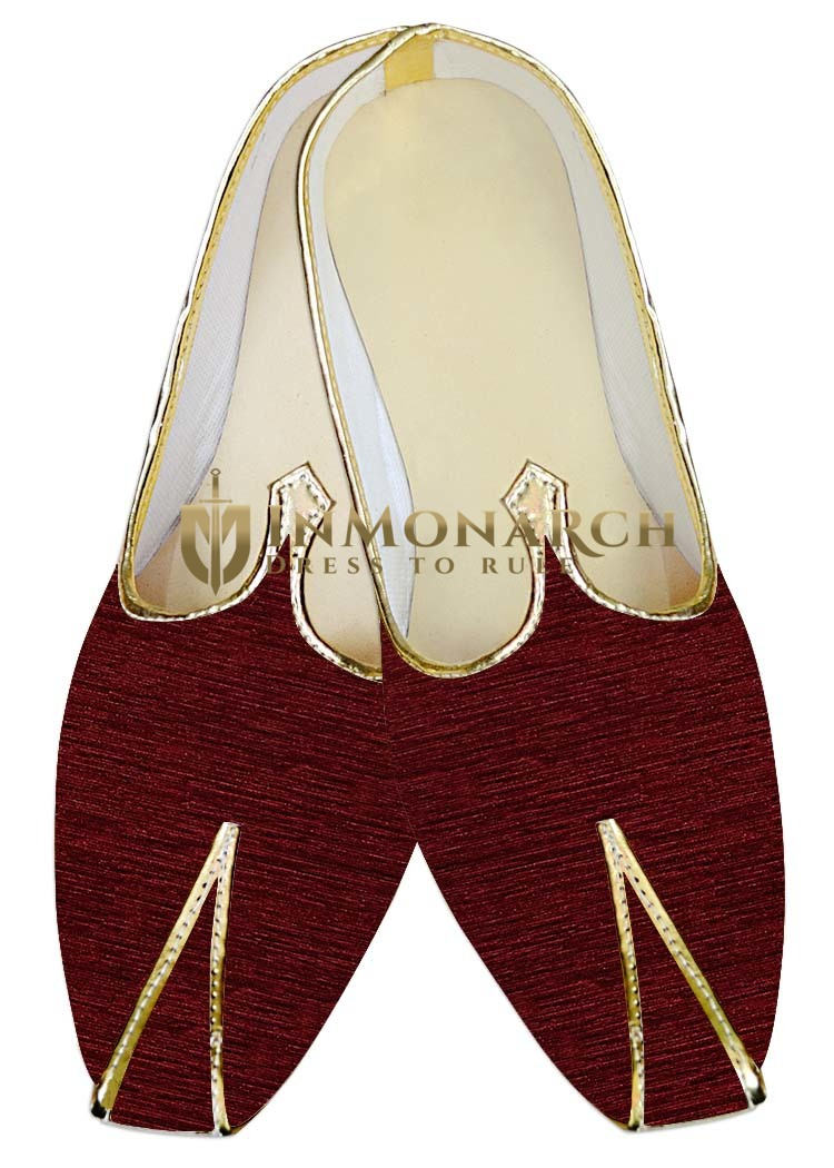 Traditional Shoes For Men Wine Wedding Shoes Rajasthani Juti