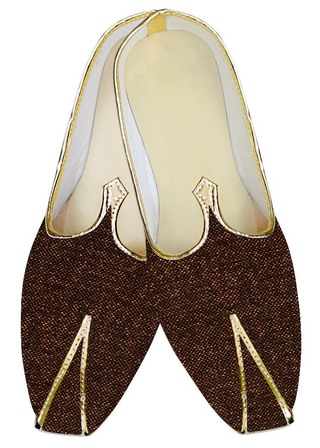 Traditional Shoes For Men Brown Jute Wedding Mojari Indian Shoes
