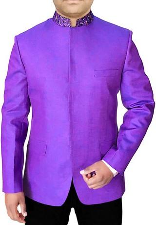 Mens Regency 2 Pc Jodhpuri Suit Concealed Button