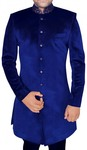 Sherwani for Men Blue Indowestern Sherwani Designer Indian Wedding Clothes