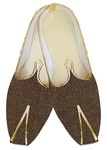 Indian Mens Shoes Bronze Jute Wedding Shoes Sherwani Shoes