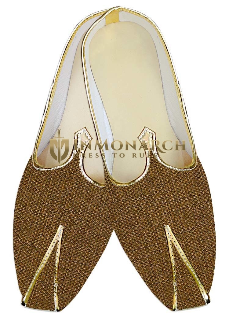 Mens Wedding Shoe For Groom Golden Wedding Indian Shoes