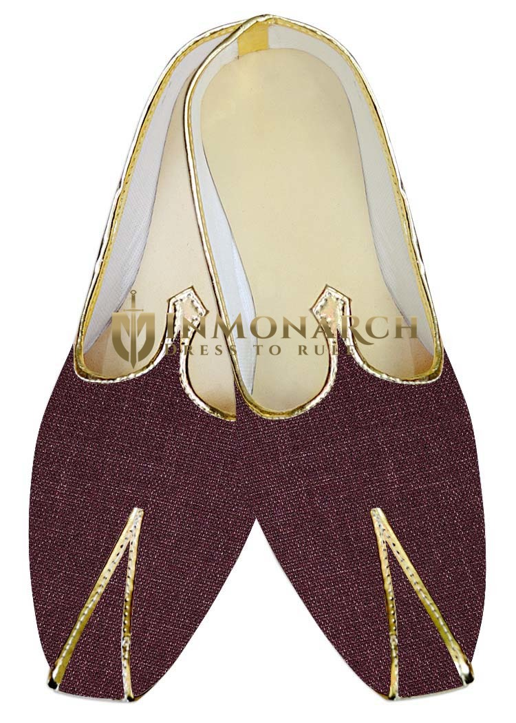 Indian Wedding Shoes For Men Wine Wedding Shoes Partywear Juti