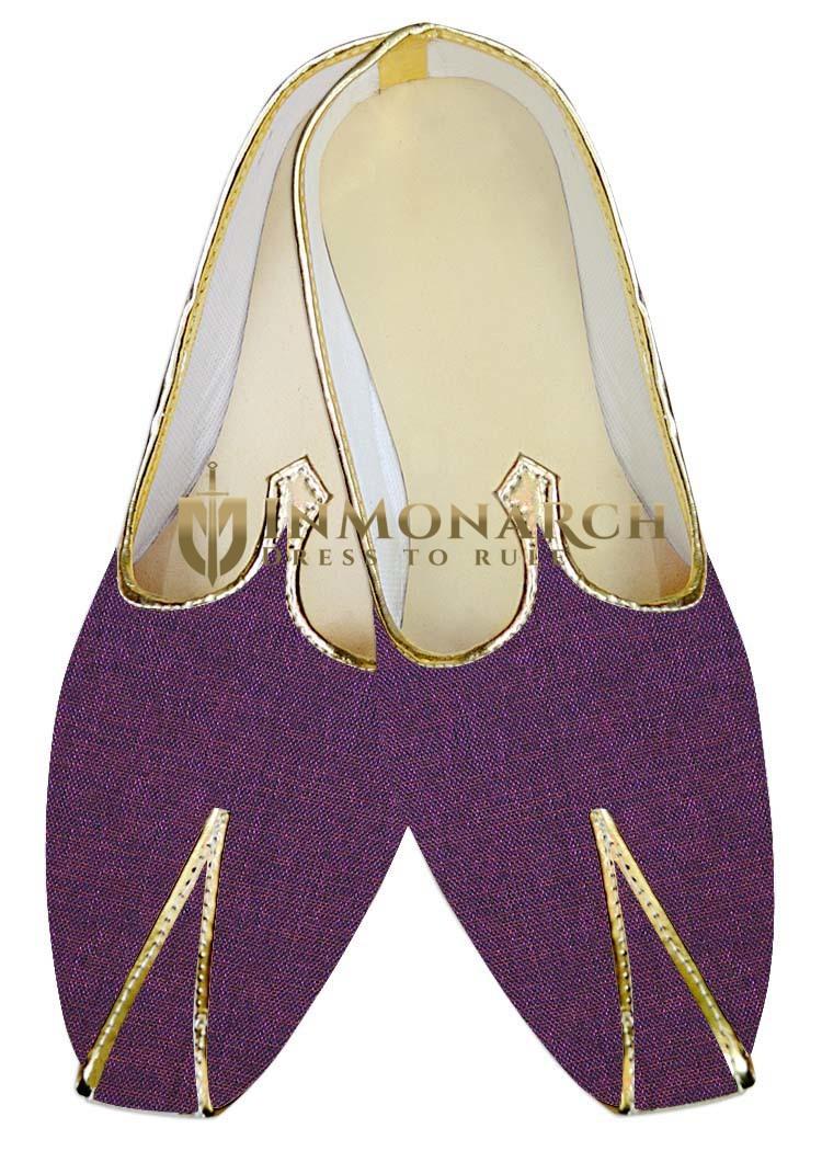 Mens Sherwani Shoes Magenta Wedding Shoes Bollywood Juti ForMen