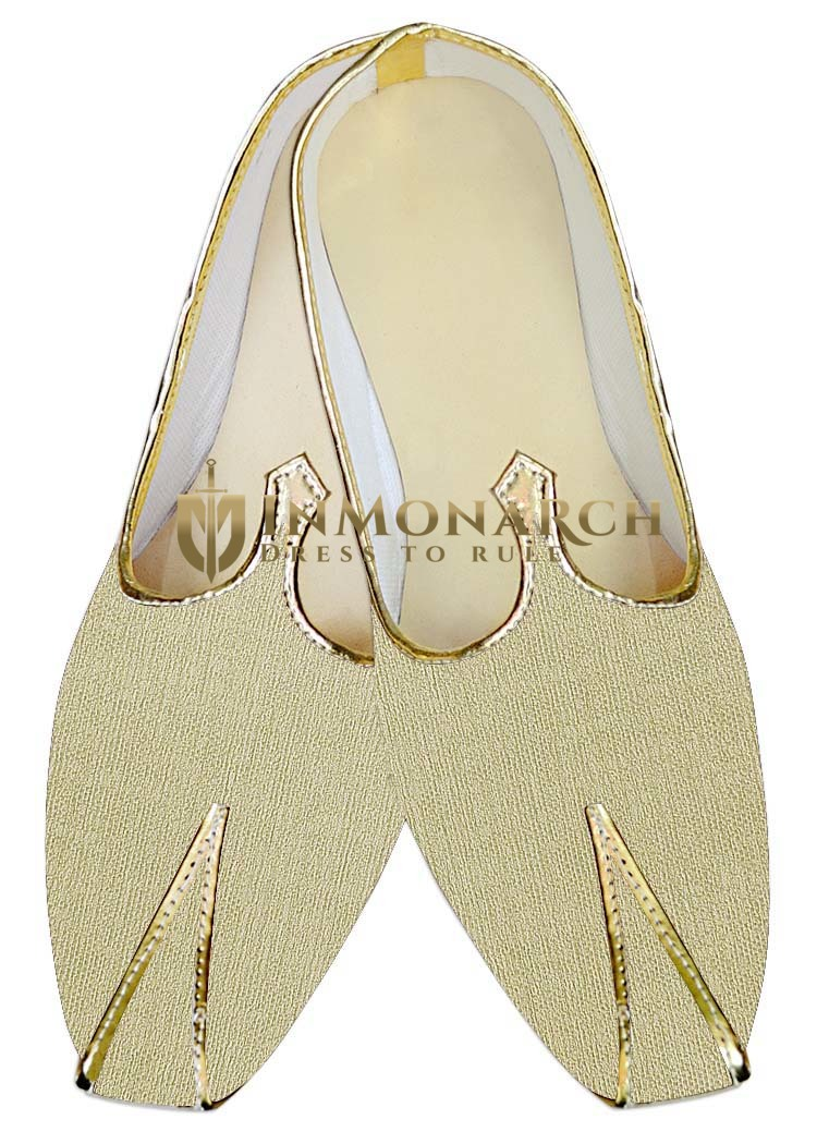 Mens Indian Bridal Shoes Beige Wedding Shoes Groomswear