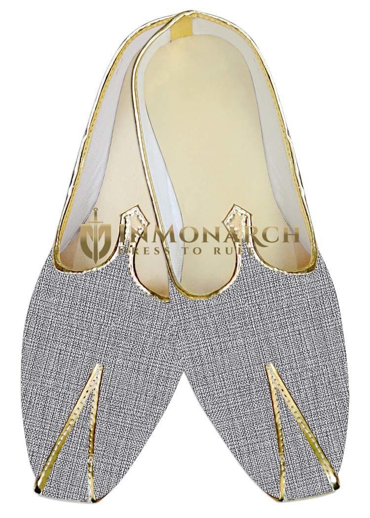 Indian MensShoes Gray Jute Wedding Shoes Handmade Juti