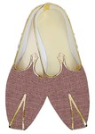 Mens Sherwani Shoes Burgundy Jute Wedding Shoes Grooms Juti