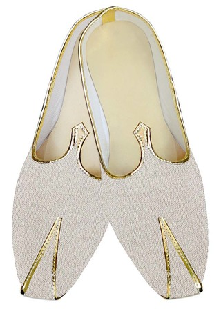 Mens Indian Bridal Shoes Cream Jute Wedding Shoes Bollywood