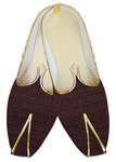 Traditional Shoes For Men Wine Jute Wedding Party Shoes Indian Shoes