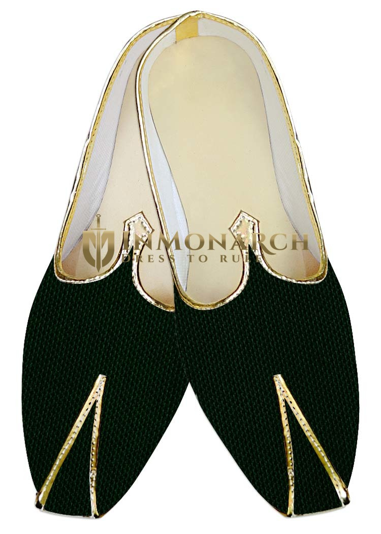 Indian WeddingShoes For Men Green Jute Wedding Shoes Bollywood