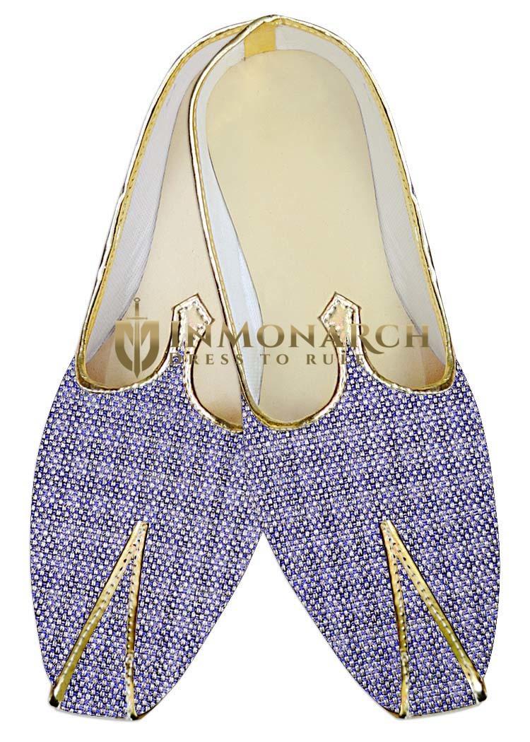 Mens Indian BridalShoes Lavender Jute Wedding Shoes Indian Groom Shoes