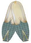 Indian WeddingShoes For Men Green Jute Wedding Shoes Bridegroom
