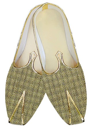 Mens Juti Golden Wedding Shoes Ethnic Indian Wedding Shoes