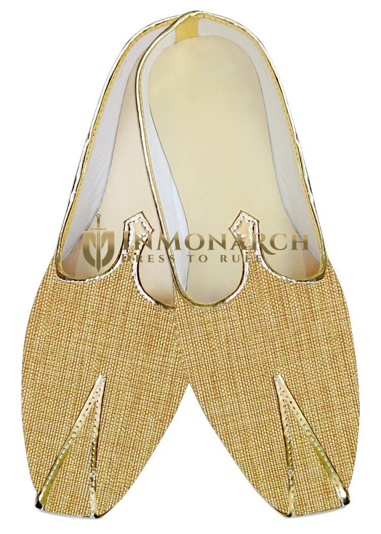Mens Sherwani Shoes Yellow Jute Wedding Shoes Handmade