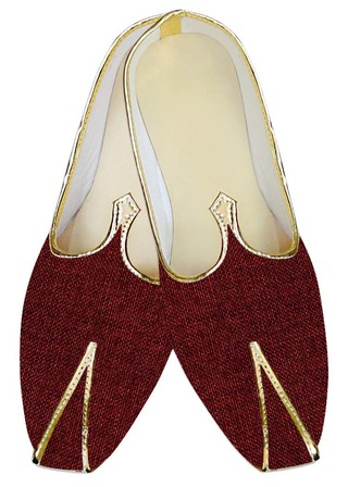 Indian Wedding Shoes For Men Maroon Jute Wedding Shoes